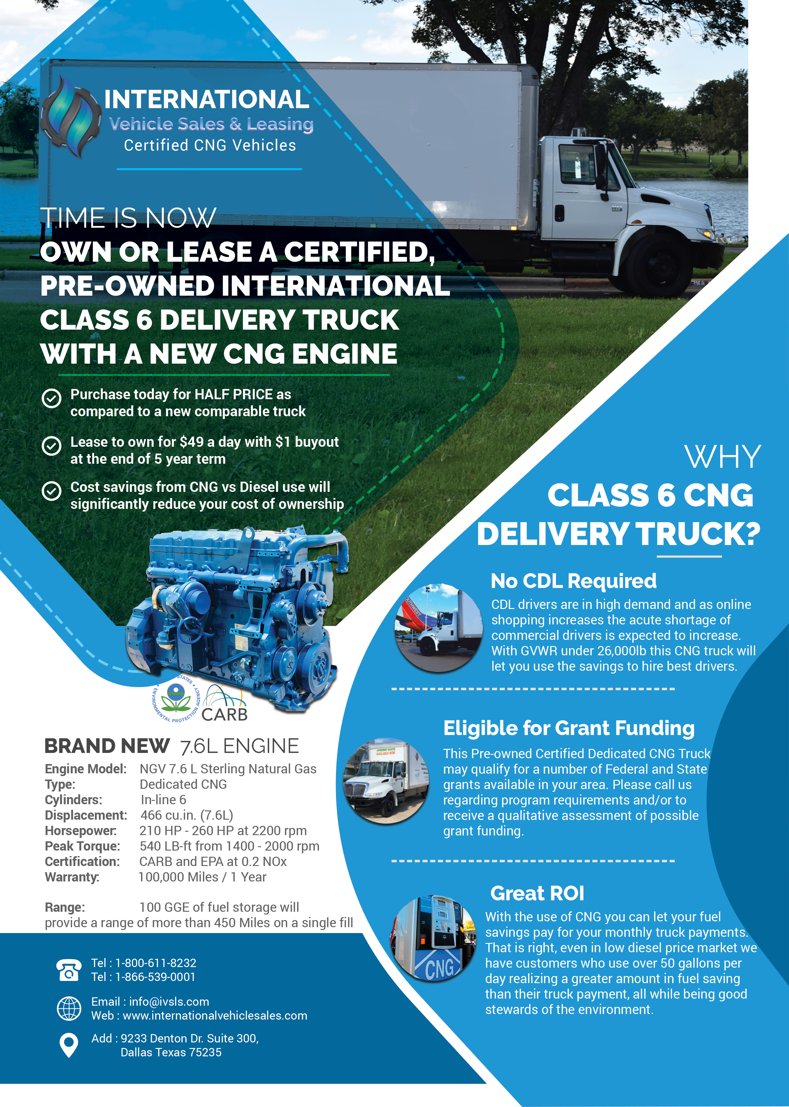CNG Delivery Truck - CNG truck sales and CNG bus sales